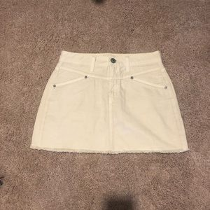 Cream Denim Skirt - AE